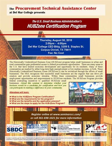 PTAC and the U.S. Small Business Administration present the HUBZone ...