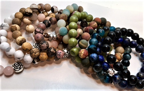 Natural Stone bracelets by Cyndi Knill
