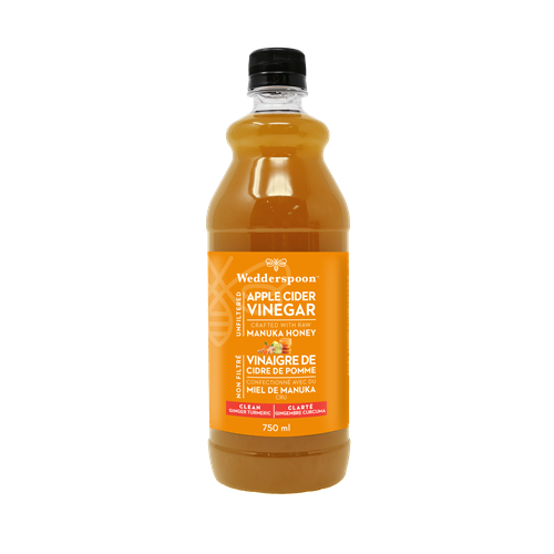 Unfiltered Apple Cider Vinegar with Manuka Honey - Ginger Turmeric