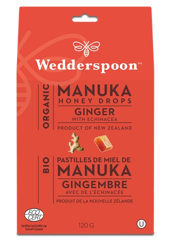 Manuka Honey Drops - Ginger with Echinacea - New Zealand