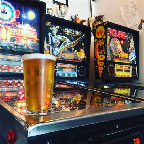 pinball and beer
