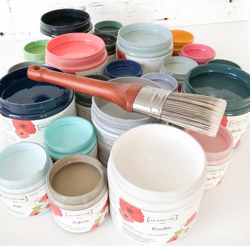 All-in-One Decor paint and our Oval Brush