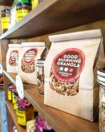 Home-made Good Morning Granola - delicious with steamed milk or yogurt.