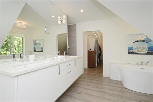 Master bathroom for a client in Shawnigan Lake, BC
