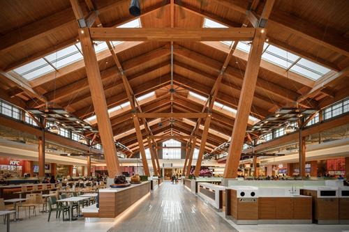 Tsawassen Mills food court, during construction