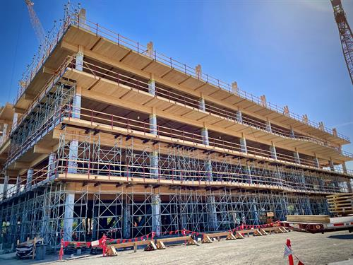 Google Office Building, substantial completion of timber install