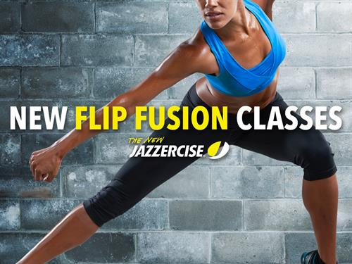 Our newest class formal is Flip Fusion. This is a killer strength workout with bursts of cardio!