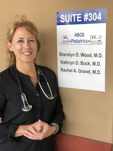 Dr. Wood is celebrating 20 years of being a pediatrician this year
