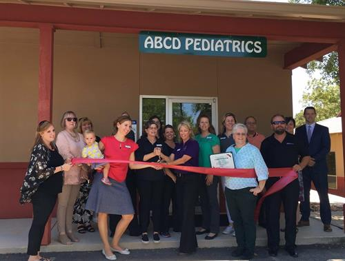 Ribbon Cutting in 2017 celebrating Boerne Pediatrics becoming part of ABCD Pediatrics