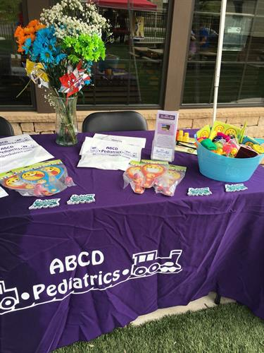 ABCD Pediatrics participated in the Little Sunshine's Playhouse Summer Fun Fair in May 2018