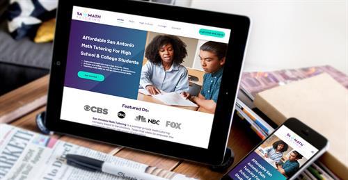 San Antonio Math Tutoring - New Website & Logo Redesign