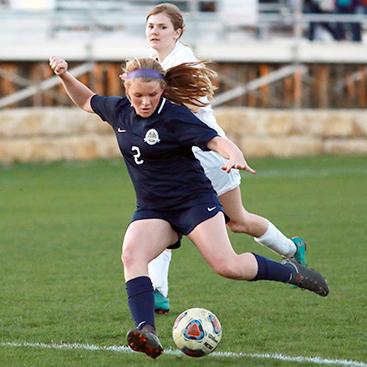 Varsity Girls Soccer Team Competes