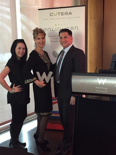 Dr. McRae and Office Manager Jamie Macdonald at the W Hotel in Scottsdale AZ for a Cutera Seminar