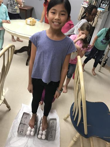 Cox Elementary Cooking Club - Walking on Eggs