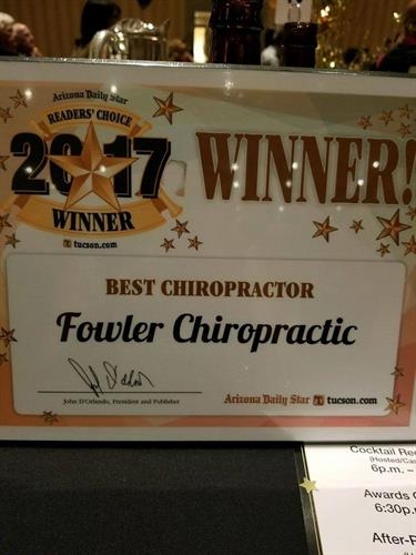 Honored to be voted Best Chiropractor