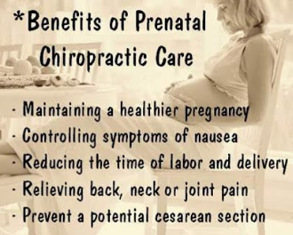 Chiropractic Care during pregnancy can relieve back, neck or joint pain. It can also control symptoms of nausea.