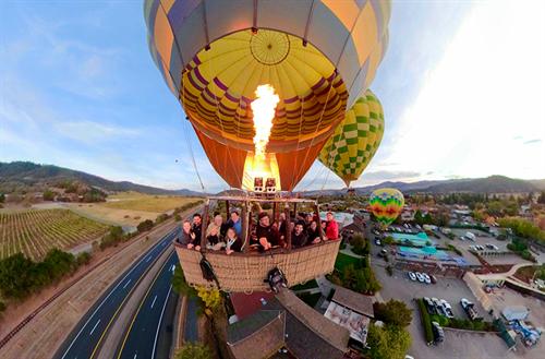 Ballon ride above Napa Valley, November 2018