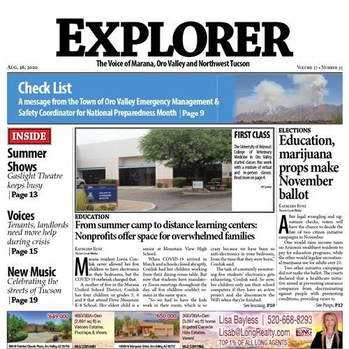 Explorer News - Weekly Newspaper / Northwest Tucson & Oro Valley