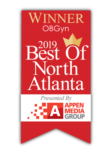 Thankful to be Voted Best OBGYN of North Atlanta in 2019!