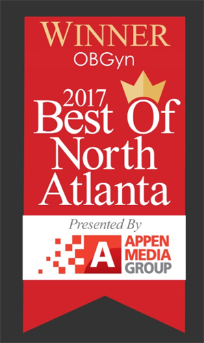 Thankful to be Voted Best OBGYN of North Atlanta in 2017!