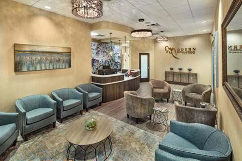 Modern OBGYN Alpharetta at Avalon waiting room.