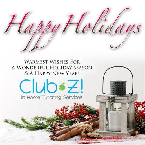 Happy Holidays from Club Z! In Home Tutoring of Alpharetta!