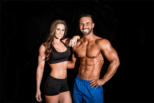 Founders of HiveFit Raul & Ashlyn