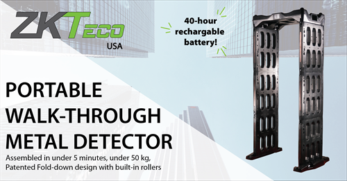 ZKTeco's PORTABLE Walk-through Metal Detector can be assembled in less than 5 minutes. CONVENIENT & EASY.