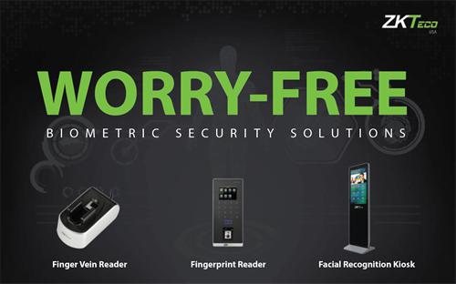 No more worrying about forgetting your keys at home, with ZKTeco biometric security solutions.