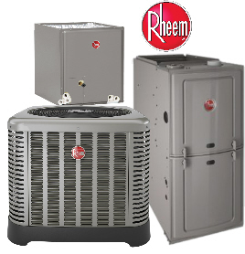 We offer High Quality Rheem Heating and Cooling Comfort