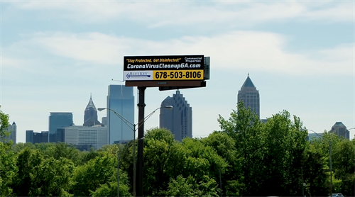 CoronaVirus Cleanup Atlanta Billboard