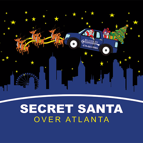 Secret Santa Over Atlanta Logo