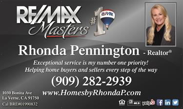 RE/MAX Masters , Rhonda Pennington DRE#01990832
