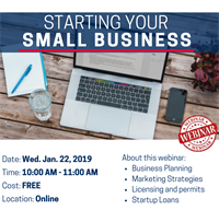 Starting Your Small Business Webinar