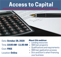 Access to Capital Webinar