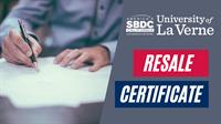 Resale Certificate