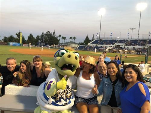 TEAM members networking and having fun at Quakes Game 2018