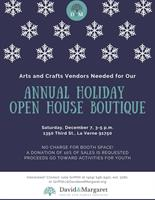 Vendors Needed for Holiday Open House Boutique