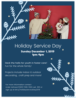 Help Deck the Halls During Holiday Service Day at David & Margaret Youth and Family Services