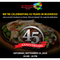 Family-Owned Mexican Restaurant Chain, Mi Ranchito, Celebrates 45 Years
