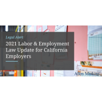 New California Laws for 2021: What Employers Should Know