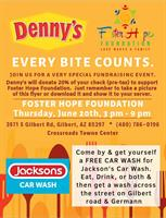 Fundraiser for Foster Hope Foundation Hosted by Denny's