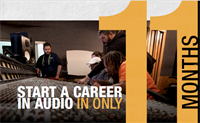 Start a Career in Audio in Only 11 Months