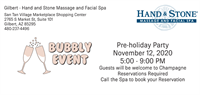 Gilbert Hand and Stone Massage and Facial Spa Bubbly Event