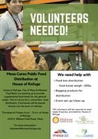 House of Refuge in need of volunteers for public food distribution