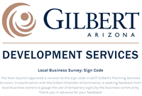 Gilbert's Planning Services Division Seeking Feedback from Local Business Owners