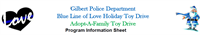 Gilbert PD Annual Adopt-A-Family Toy Drive Wishlist Form