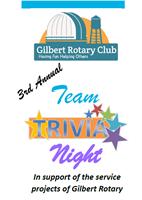 3rd Annual Team Trivia Fundraiser Night