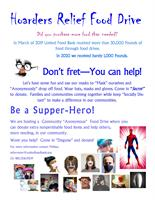 Hoarders Relief Food Drive