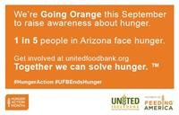 September is National HUNGER ACTION MONTH.